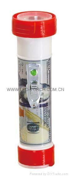 LED彩色塑料手電筒 TF300P 1