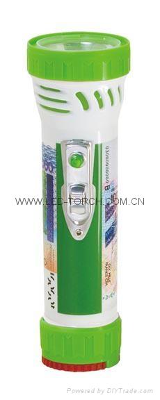 LED彩色塑料手電筒 99C2DE1 1