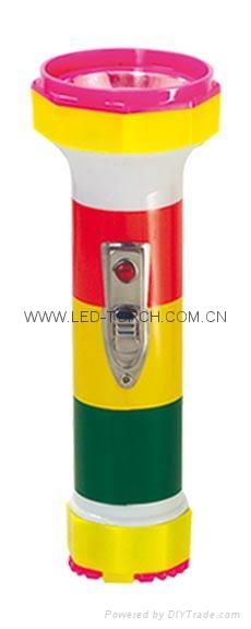 LED彩色塑料手電筒 PS350DP 1