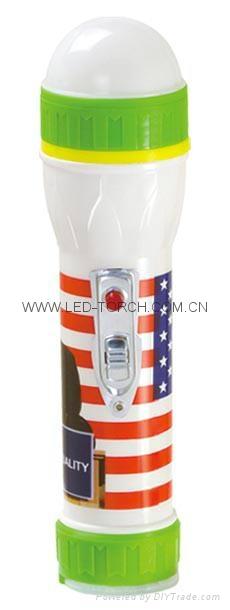 LED彩色塑料手電筒 PP300PS 1