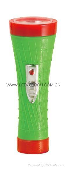LED彩色塑料手電筒 PX350 1