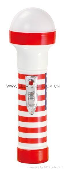 LED彩色塑料手電筒 TWP2DE1S 1