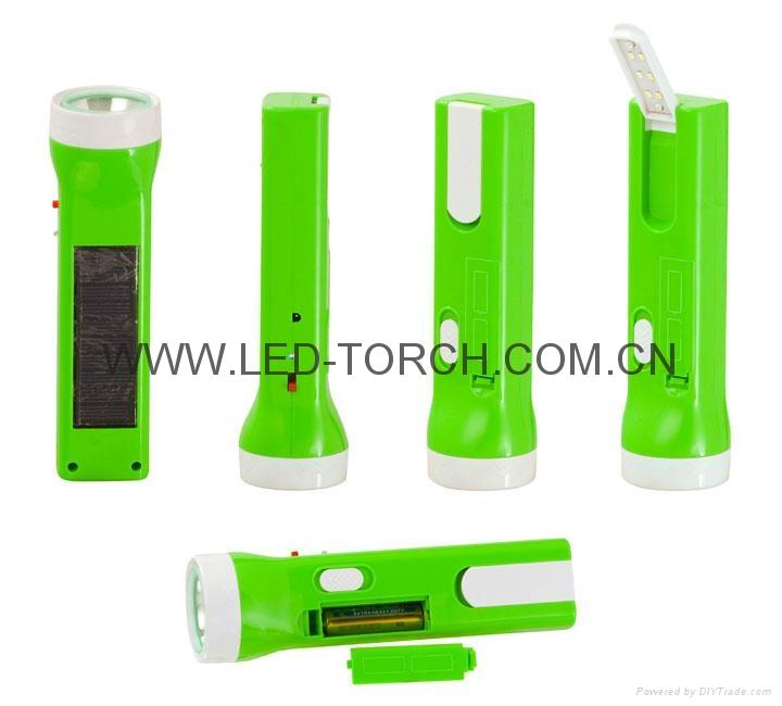 LED太陽能可充電手電筒 SL-005 1