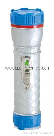 LED彩色塑料手電筒 PF300M 1
