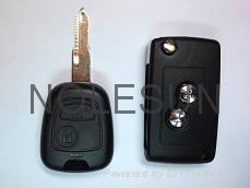 Peugeot remote key shell for 206 3