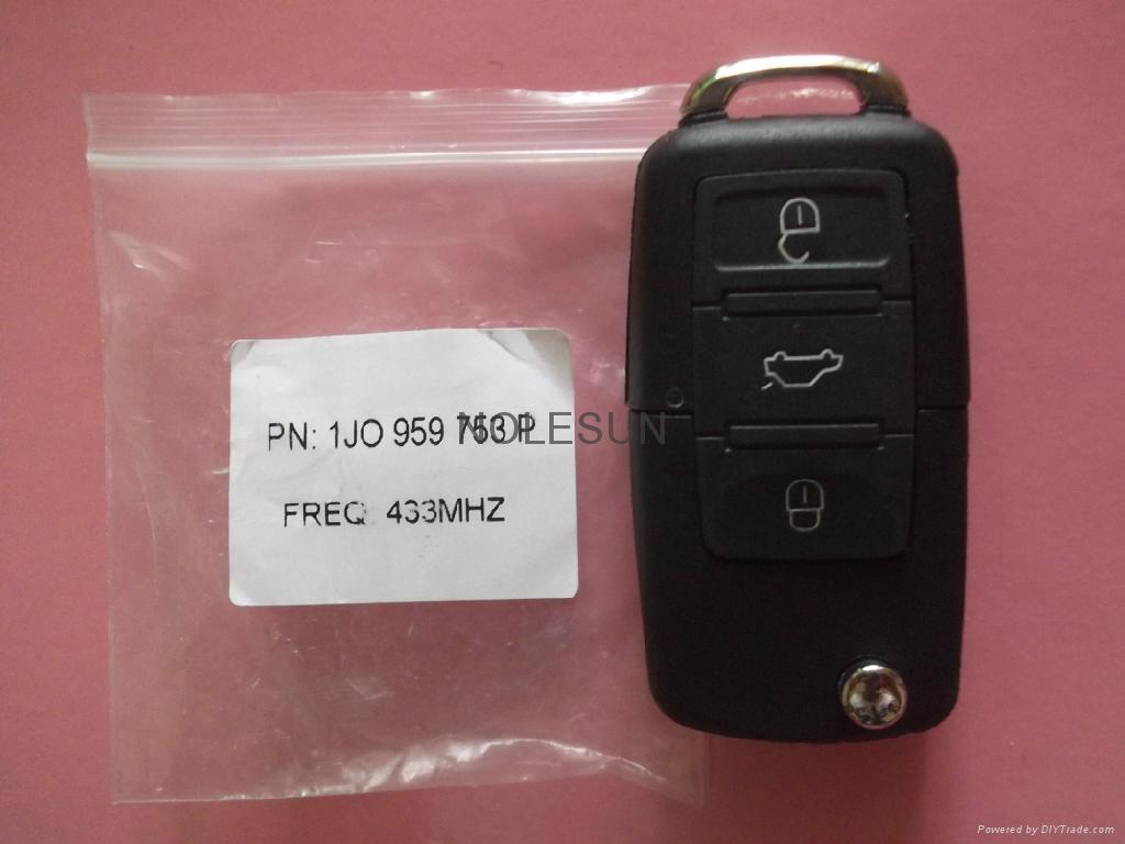 VW remote  key blank 4