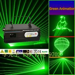 單綠動畫激光燈