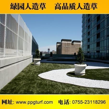 阳台人造草装饰 3