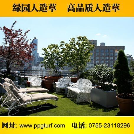 樓頂裝飾人造草 1