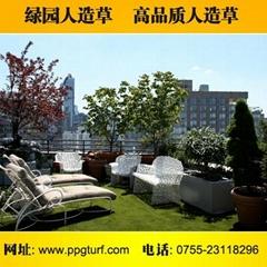 樓頂裝飾人造草