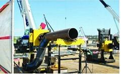 Pipeline prefabrication production line for whole plant