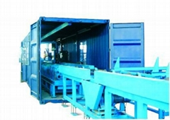 Movable pipeline prefabrication production line