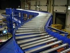 Spiral roller conveyor line