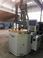 台湾百科55吨带转盘二手立式注塑机