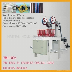 Two head 24 Spandles coaxial cable Braiding Machine