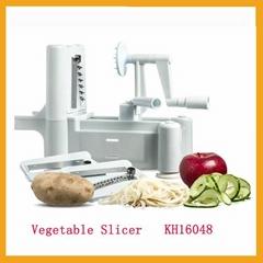 Tri-Blade Plastic White Vegetable Spiraliser slicer As seen On tv (Hot Product - 1*)