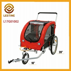 cute pet jogger stroller & dog bike trailer with reflectors pet product