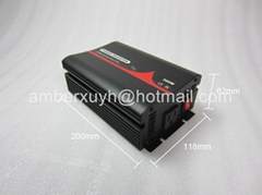 12VDC to 120VAC 300W Pure Sine Wave Car Inverter