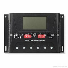 12V/24V30A 太阳能智能充电控制器 太阳能家用系统 LCD屏显示