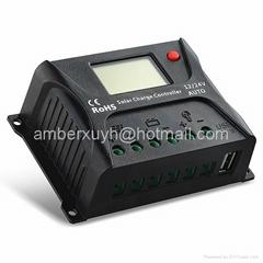 12V/24V/20A 太阳能智能充电控制器 太阳能家用系统 LCD屏显示