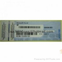 Windows 7 Professional COA License Label (X16, Blue, HP Brand)
