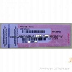 Windows 7 Professional Product Key COA License Label (X16, Pink)