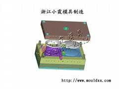 U型馬桶蓋塑料模具