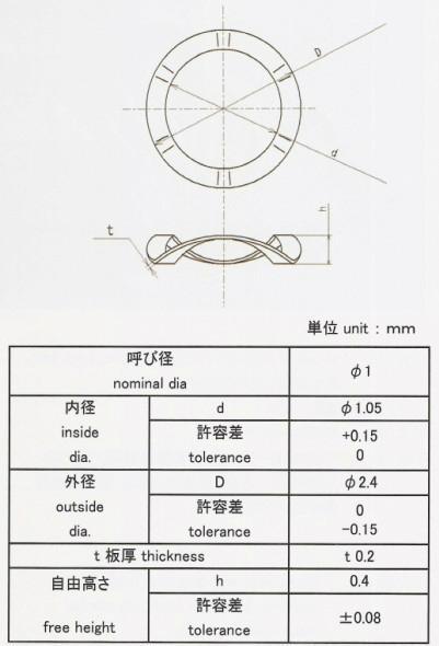 直徑1mm微型波形墊圈 3