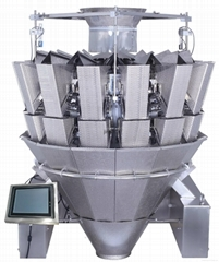 14 heads multihead weigher for sticky products