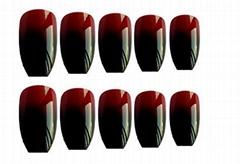 24Pcs/Sheet Coffin  False Nails Change Color Tips Nail Art