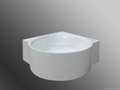 One-piece Corner Bathtub