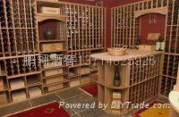 实木酒架-酒窖设计