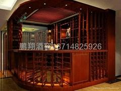 實木酒架-酒窖設計