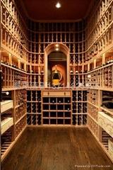 实木酒架-红酒架