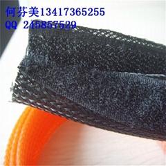 魔术贴编织网管