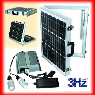50W折叠式太阳能供电系统 1