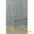 PC透明竹節椅 水晶椅