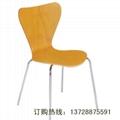 深圳直销鱼尾曲木餐椅