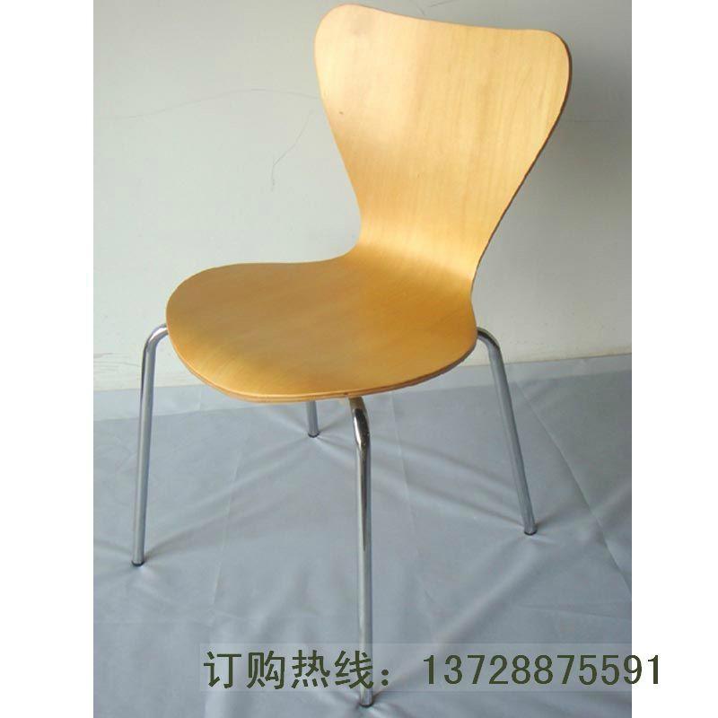 深圳直銷魚尾曲木餐椅   2