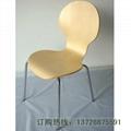 圆背细腰曲木餐椅