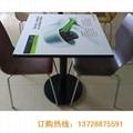 防火板桌面铸铁脚快餐桌