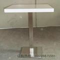 人造石桌面不锈钢脚快餐桌