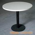 人造石桌面铸铁脚快餐桌