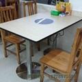 铸铁脚人造石桌面火锅桌