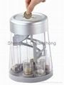 Poud coin counting sorter bank