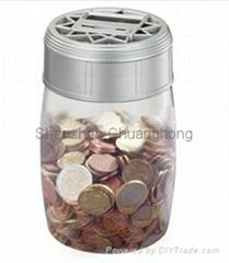 coin bank saving bank piggy bankcounting bank money jar
