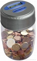 coin bank, saving bank,piggy bank, counting bank,,money jar
