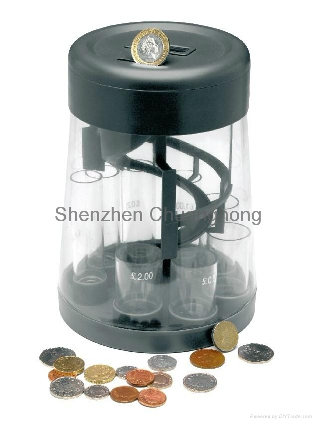 2017 newest mini coin counter and sorter piggy bank 4