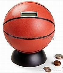 coin counter bank, sports coin bank, saving bank, sports bank