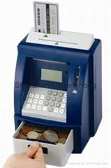 Piggy coin bank Mini ATM coin bank, coin counter jar, money jar